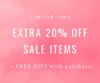 Extra 20% Off Sale Items - Large Rectangle Ad template