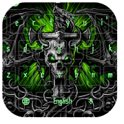 Green Dragon Skull Keyboard