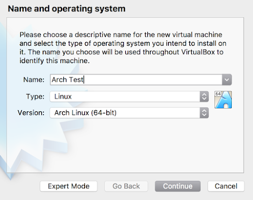 Name your VM
