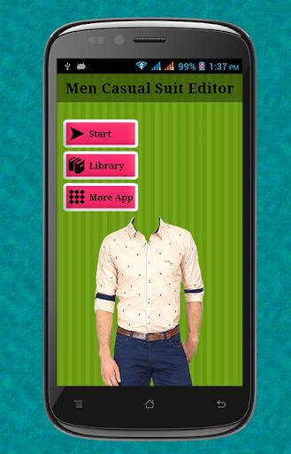 Men Casual Suit Editor