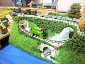 Photo: 012 A 7mm scale model of a Guinness Brewery locomotive by 14 year old Toby Hollins .