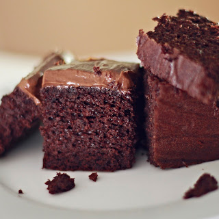 Chocolate Cake with Maple Peppermint Chocolate Frosting