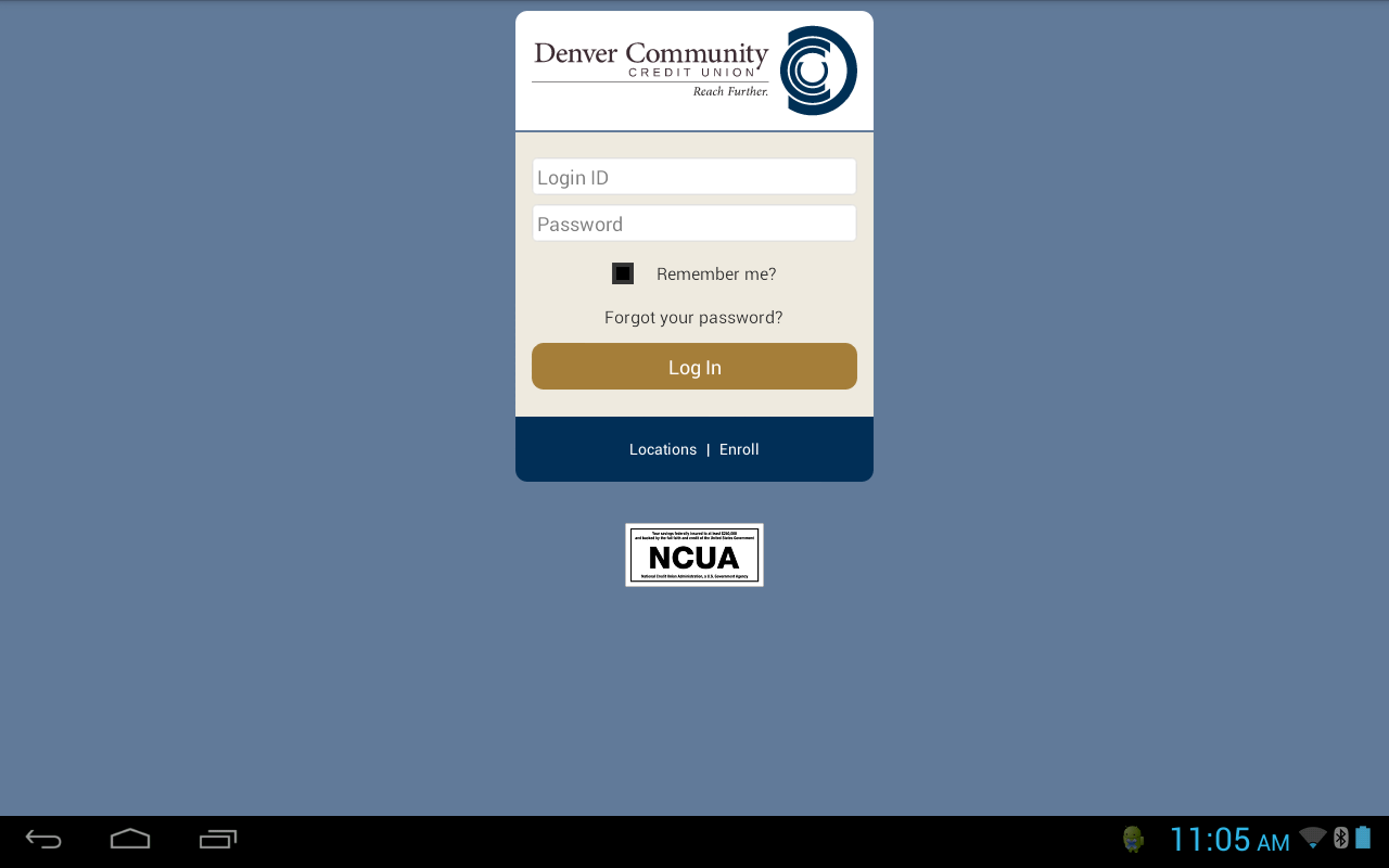Denver Community CU mBanking- screenshot