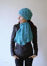 Photo: женский вязаный комплект Атлантика шапочка с косами и шарф