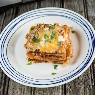 Easy Mexican Lasagna.