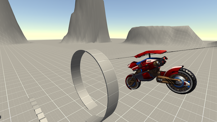 Flying Helicopter Motorcycle - screenshot