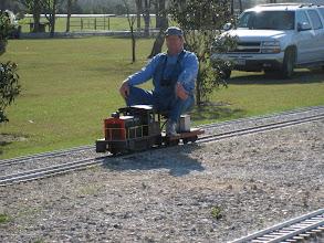 Photo: James Hitzfelder on his tiny 1.   HALS 2009-0228