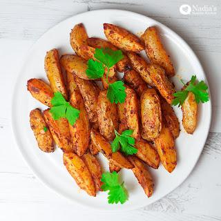 Baked Paprika Potato Wedges Recipe