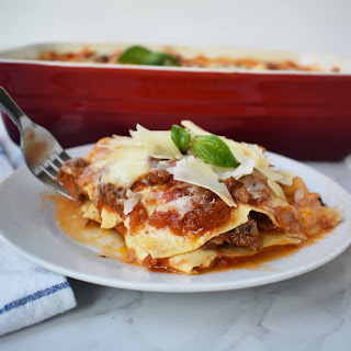 Italian Bolognese Lasagna.