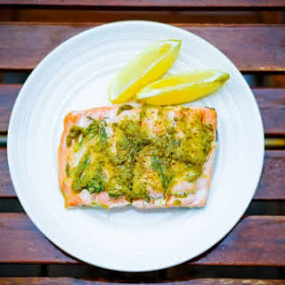 Basil Pesto Salmon.