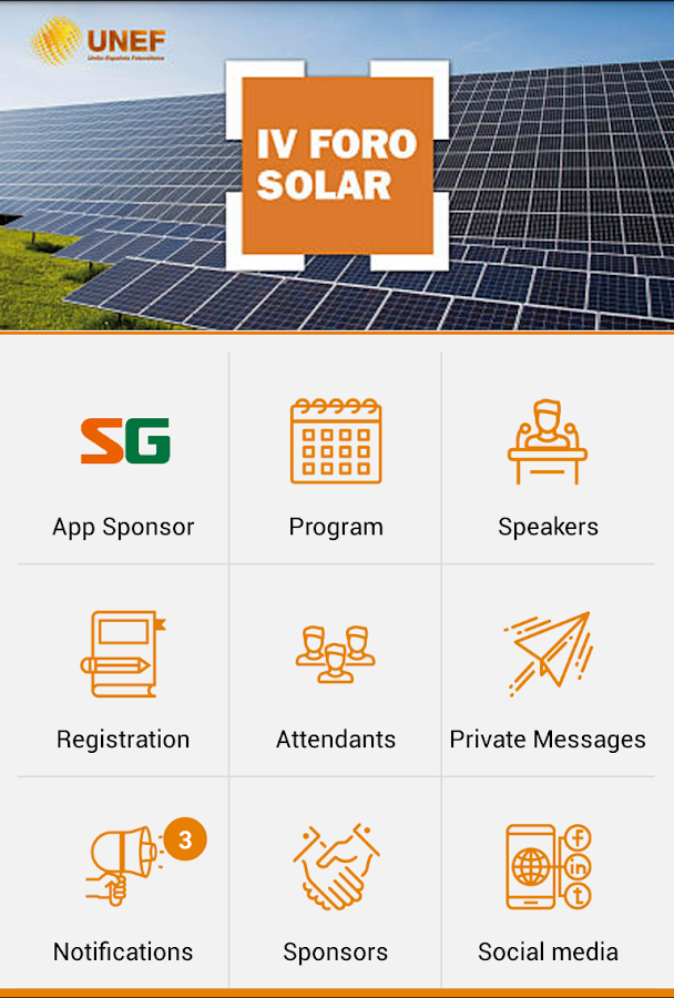 IV Solar Forum - UNEF- screenshot