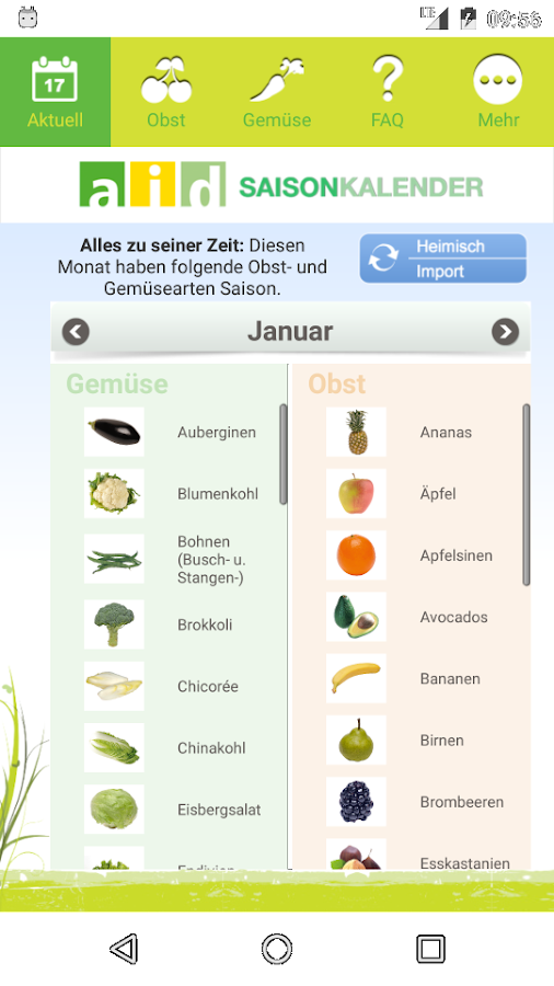 Saisonkalender- screenshot