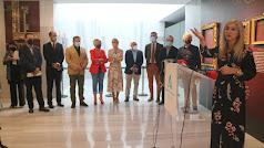 Presentación de la exposición por parte de la consejera de Cultura, Patricia del Pozo