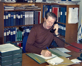 Photo: Oskarslund. Karl-Gustav Ohlsson 1978 på Vattenfalls kontor i Lindesberg