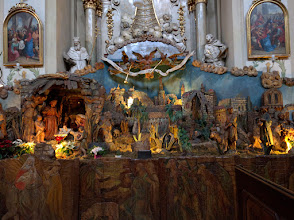 Photo: A large nativity scene in one of the few churches I was able to enter.