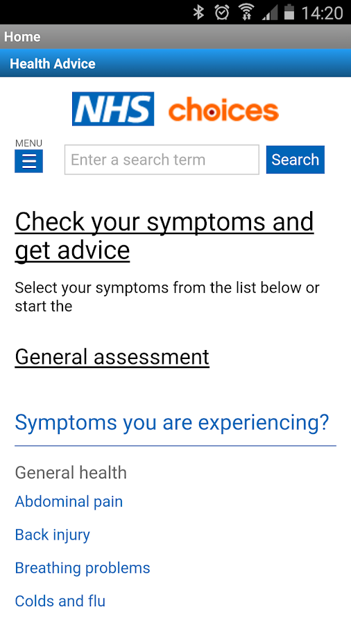 NHS Brent Health App- screenshot