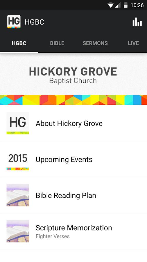 Hickory Grove Baptist Church- screenshot