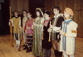 Photo: April 1991: Colossal Baroque concert with the combined CMA and EME ensembles; shawms: Alan Workman, Frank Hutchison, Danny Lipori, Beth Lechner, David Badagnani, Ted Soluri, and Chris Wilson on cornetto.