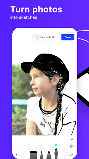 SketchAR: learn to draw step by step with AR 4.63-play screenshots 2