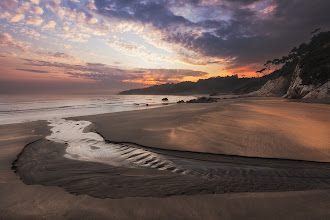 Photo: Shot of the Day - Taken this morning on our local beach in northern Spain. On Friday we leave here on the start of our move to live in Thailand. As this small stream finds its way to the sea, so too do we continue to travel.