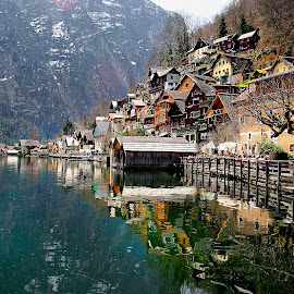 Austria - Land of lakes by Gérard CHATENET - City,  Street & Park  Vistas