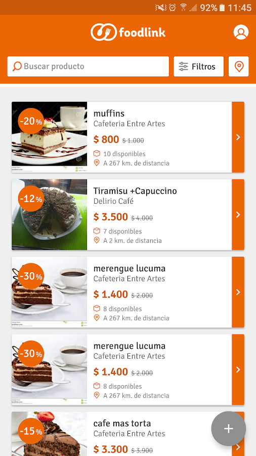 Foodlink- screenshot