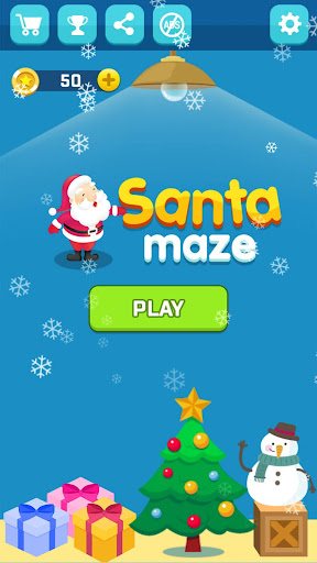 Santa Push Maze - Block puzzle game  captures d'u00e9cran 1