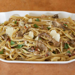 Fettuccine with Porcini and Pancetta Cream