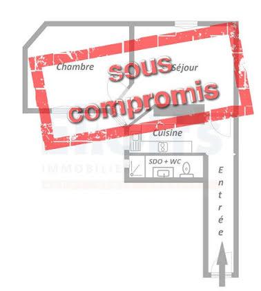 Vente appartement 2 pièces 38,67 m2
