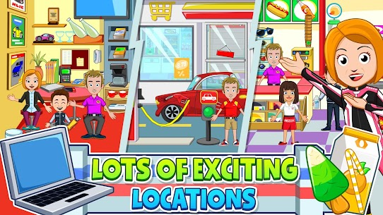 My Town: Car Garage Wash & fix kids car game MOD (Paid Content) 2