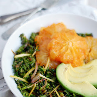 Broccoli Slaw with Caramelized Grapefruit and Avocado