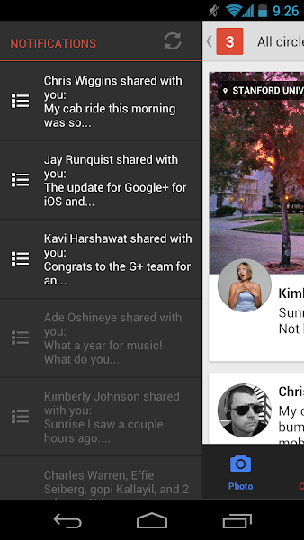 Photo: ... and the G+ app launches and shows the posts you subscribed to.