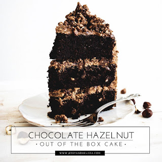 Chocolate Hazelnut Out of the Box Cake.