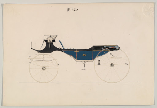 Design for Vis-à-vis/ Caleche, no. 725