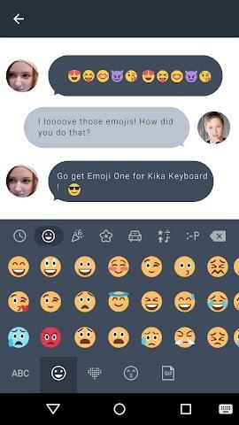 android Emoji One Kika Keyboard Plugin Screenshot 0