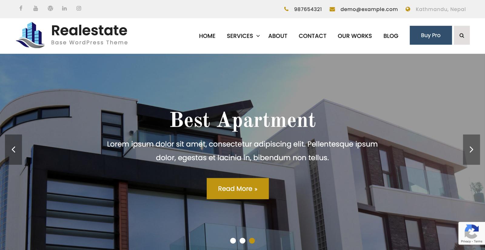 Realestate Base freelancer WordPress themes