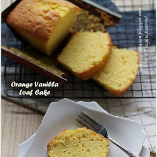 Orange Vanilla Loaf Cake.