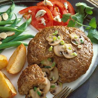 Mushroom-Stuffed Pork Burgers.
