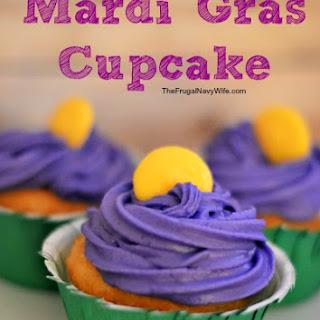Mardi Gras Cupcake.