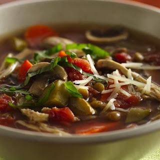 Slow-Cooker Italian Chicken-Lentil Soup.