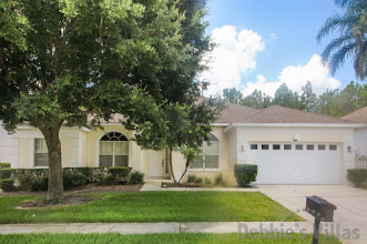 Orlando villa, west-facing private pool, games room, golfing community, close to Disney