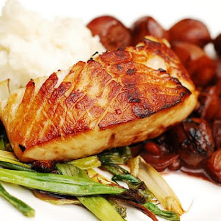 Black Cod with Balsamic Shallot and Pomegranate Sauce Recipe