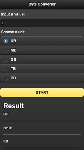 バイト byte 変換機