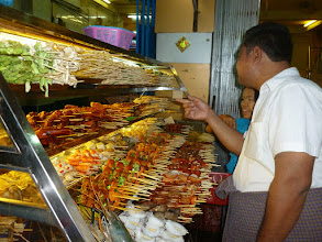 Photo: This little street is famous for the satay and other barbeque treats offered to the locals.