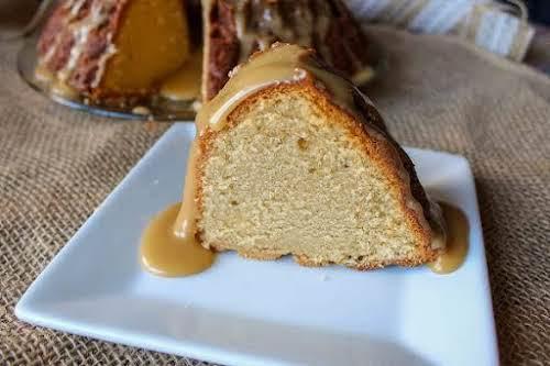 """Irish Cream Pound Cake""""This pound cake has the delicious flavor of Baileys..."""
