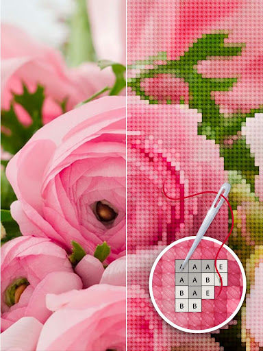 Color by Letter - Sewing game  Cross stitch - screenshot