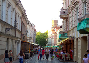 Photo: The first written reference to Vilnius was in 1323.  Pilies Street is the main street in the old town.  The large old town is a UNESCO World Heritage Site.