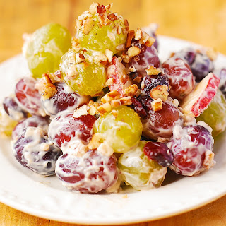Creamy Vanilla Grape & Apple Salad