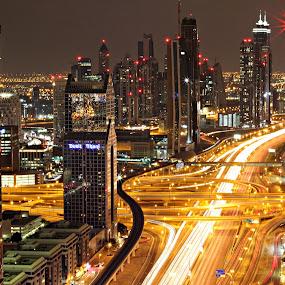 Dubai by Awais Javed - Landscapes Starscapes ( dusit, dusit thani, dubai, landscape, city )