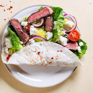 Grilled Steak & Feta Wrap